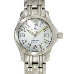 オメガ OMEGA シーマスター 2581 70 レディース 腕時計 ホワイトシェル ウォッチ 【腕時計】★