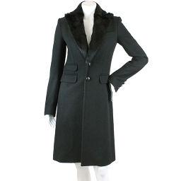 Dsquared Coat Long Outerwear Fur Black Size 38 Women [Apparel] ★