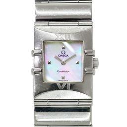 オメガ コンステレーション カレ 1521 71 レディース 腕時計 シェル 文字盤 クォーツ ウォッチ 【腕時計】★