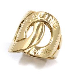 セリーヌ CELINE ロゴ サークル リング 12号 K18YG 18金イエローゴールド 750 指輪 【BJ】★