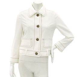 Foxy New York Jacket Long Sleeve Button White Size 38 Women's [Apparel] ★