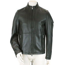 Hugo Boss Riders Jacket Blouson Genuine Leather Lamb Leather ZIP Black Size 44 Men's [Apparel] ★
