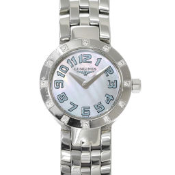 ロンジン LONGINES ドルチェビータ ラウンド L5 174 0 12P ダイヤ レディース 腕時計 【腕時計】★