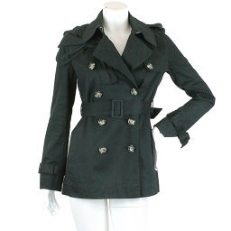 Red Valentino Coat Short Length Double Ribbon Belted Black Size XS Women [Apparel] ★