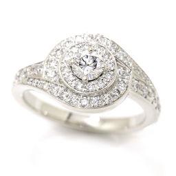 ピアジェ PIAGET ダイヤ #53 リング K18WG 18金ホワイトゴールド 750 ダイア 指輪 【証明書付き】 【BJ】★