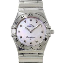オメガ OMEGA コンステレーション ミニ 1561 71 レディース 腕時計 ホワイトシェル 文字盤 【腕時計】★