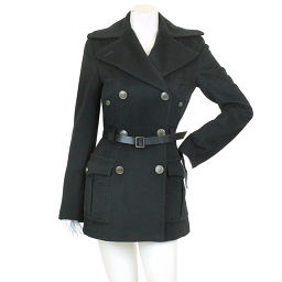 Dolce & Gabbana Coat with Belt Button Long Black Size 40 Dol Gaba Womens [Apparel] ★