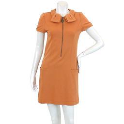 Foxy New York One-Piece Collar Short Sleeve Mini ZIP Orange Size 38 Women's [Apparel] ★