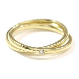 アーカー AHKAH ダイヤ 0.01ct リング 2号 K18YG 18金イエローゴールド ピンキー 指輪 【BJ】★