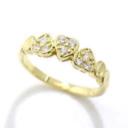 クリスチャン ディオール ダイヤ 9号 リング K18YG ハートモチーフ 18金 750 指輪 Christian Dior 【BJ】★