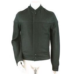 バレンシアガ ジャケット ZIP ウール 無地 ブラック サイズ 44 メンズ 【アパレル】★