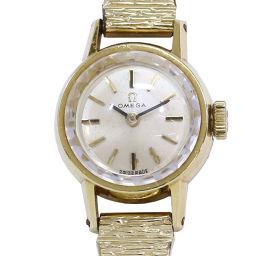 オメガ OMEGA カットガラス K18YG cal.484 アンティーク レディース 腕時計 手巻き 【腕時計】★