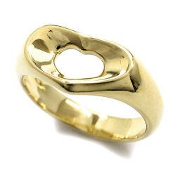 ティファニー オープンハート リング 9.5号 K18YG 18金 750 エルサ ペレッティ 指輪 TIFFANY&Co. 【BJ】★