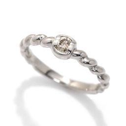 クリスチャン ディオール Christian Dior ダイヤ リング 9号 Pt プラチナ ダイア 指輪 【BJ】★