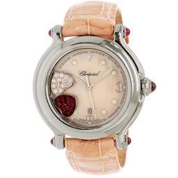 ショパール Chopard ハッピースポーツ レディース 腕時計 27 8238 21 ダブルハート ダイヤ 【腕時計】★