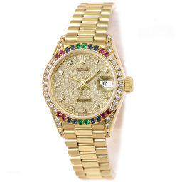 ロレックス ROLEX 69038G デイトジャスト ダイヤ ベゼル レディース 腕時計 コンピュター 【腕時計】★