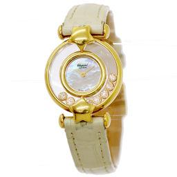 ショパール Chopard ハッピーダイヤモンド 20 6295 レディース 腕時計 K18YG 【腕時計】★