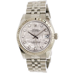 ロレックス ROLEX 178274G デイトジャスト 10P ダイヤ メテオライト ボーイズ 腕時計 【腕時計】★