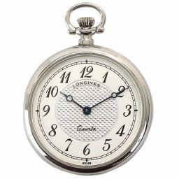 ロンジン LONGINES L7 026 4 懐中時計 ミニ ポケット ウォッチ シルバー 文字盤 クォーツ 【腕時計】★