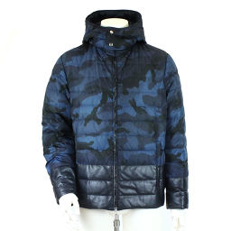 Valentino Down jacket Outer batting Camouflage Pattern Blue Black Size 48 Men's [Apparel] ★