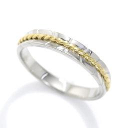 クリスチャン ディオール リング 13号 Pt950 K18YG プラチナ 18金 750 指輪 Christian Dior 【BJ】★