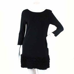 Foxy one-piece three-quarter sleeve ruffle knee length black size 40 ladies [Apparel] ★