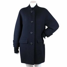 Foxy New York Coat Long Sleeve Wool Button No Color Navy Size 40 Women [Apparel] ★