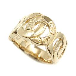 セリーヌ CELINE ロゴ サークル リング 13号 K18YG 18金イエローゴールド 750 指輪 【BJ】★