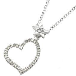 Pinky & Diane Diamond 0.11ct Necklace 40cm K18WG 18K White Gold Heart Dia Pinky & Dianne [BJ] ★