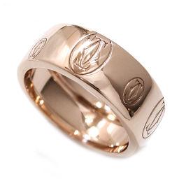 カルティエ Cartier ハッピーバースデー #56 ロゴ リング K18PG 18金ピンクゴールド 750 指輪 【BJ】★