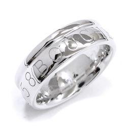 ブシュロン ロゴ リング #48 K18WG 18金ホワイトゴールド 750 指輪 BOUCHERON 【証明書付き】 【BJ】★