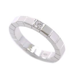 カルティエ Cartier ラニエール ダイヤ 1P リング #48 K18WG 18金ホワイトゴールド 750 指輪 【BJ】★