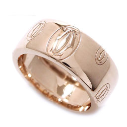 カルティエ Cartier ハッピーバースデー #51 リング K18PG 18金ピンクゴールド 750 ロゴ 指輪 【証明書付き】 【BJ】★
