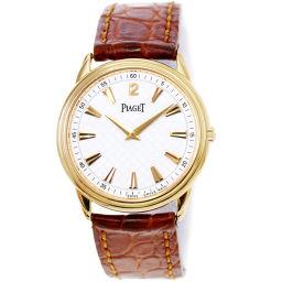 ピアジェ PIAGET グベナー 90968 手巻き メンズ 腕時計 K18PG ピンクゴールド ホワイト 【腕時計】★