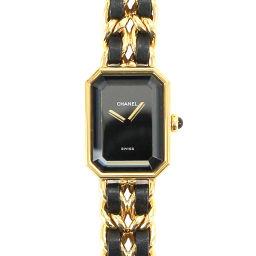 シャネル CHANEL プルミエール Lサイズ H0001 レディース 腕時計 ブラック ウォッチ 【腕時計】★