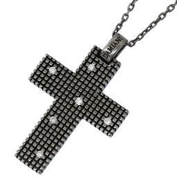 ダミアーニ DAMIANI メトロポリタン ドリーム ダイヤ 6P ネックレス 55cm K18WG 18金 750 クロス 【BJ】★