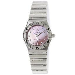 オメガ OMEGA コンステレーションミニ レディース 腕時計 1562 65 12P ダイヤ ピンクシェル 【腕時計】★