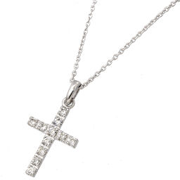 Samantha Tiara diamond 0.22ct cross motif necklace 42cm K18WG 18 gold cross Dia Samantha Tiara [BJ] ★