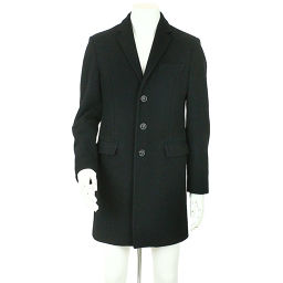 Dsquared Chester Coat Outerwear Wool Button Black Size 46 Men's [Apparel] ★