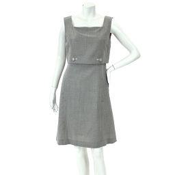 Foxy Dress One-piece Sleeveless Knee-length Plain Gray Size 42 Women [Apparel] ★