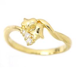 クリスチャン ディオール ダイヤ 9号 リング K18YG 18金イエローゴールド 750 指輪 Christian Dior 【BJ】★