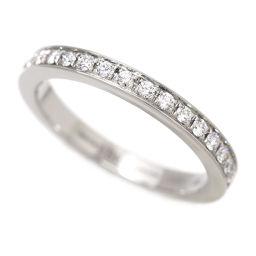 ブルガリ BVLGARI ハーフ エタニティ ダイヤ #49 リング Pt プラチナ ダイア 指輪 【証明書付き】 【BJ】★