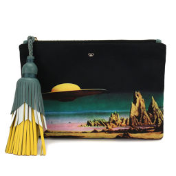 Unused exhibits Anyah Hind March Space print Satin Courtney Planet clutch [Brand] ★