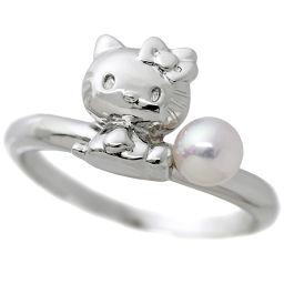 タサキ TASAKI キティ ベビーパール 11号 リング SV シルバー 真珠 指輪 田崎真珠 【BJ】★