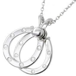 ウォルサム Waltham ダイヤ 0.32ct ネックレス K18WG 45cm スウィング 18金ホワイトゴールド 750 ダイア 【BJ】★