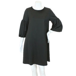 Foxy New York one-piece three-quarter sleeve black size 38 ladies [pre-owned] [Apparel] ★