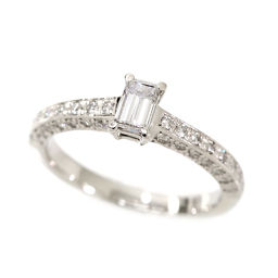 Diamond E / SI-1 0.384ct / 0.43ct Pt platinum ring 10.5 diamond ring [sorting included] [NJ] ★