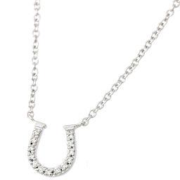 ティファニー ホースシュー ダイヤ ネックレス 41cm K18WG 750 18金ホワイトゴールド 馬蹄 TIFFANY&Co. 【BJ】★