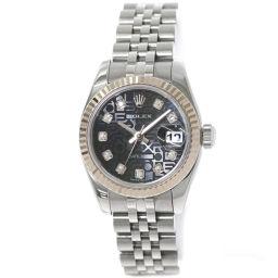 ロレックス ROLEX デイトジャスト 179174G D番 レディース 腕時計 ダイヤ コンピューター 【腕時計】★