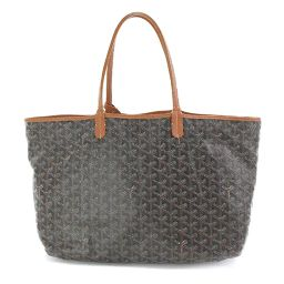 Goyal GOYARD Herringbone Saint Louis PM Tote Bag PVC Leather Black Brown [Brand] ★